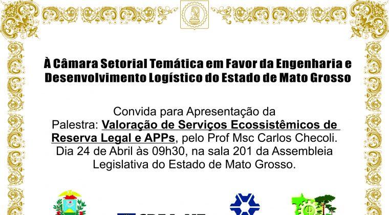 Palestra abordará valoração de serviços ecossistêmicos de Reserva Legal e Áreas de Preservação Permanentes