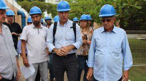 Conselheiros visitam obras de saneamento