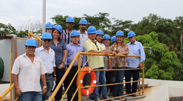 Conselheiros do Crea-MT visitam estações de tratamento de água e esgoto da capital