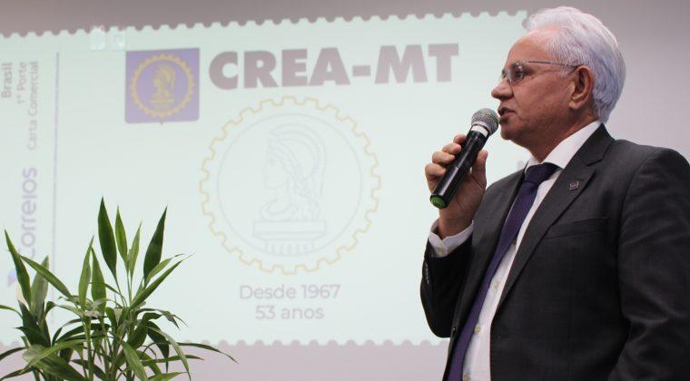 Selo é lançado em homenagem aos 53 anos do Crea-MT